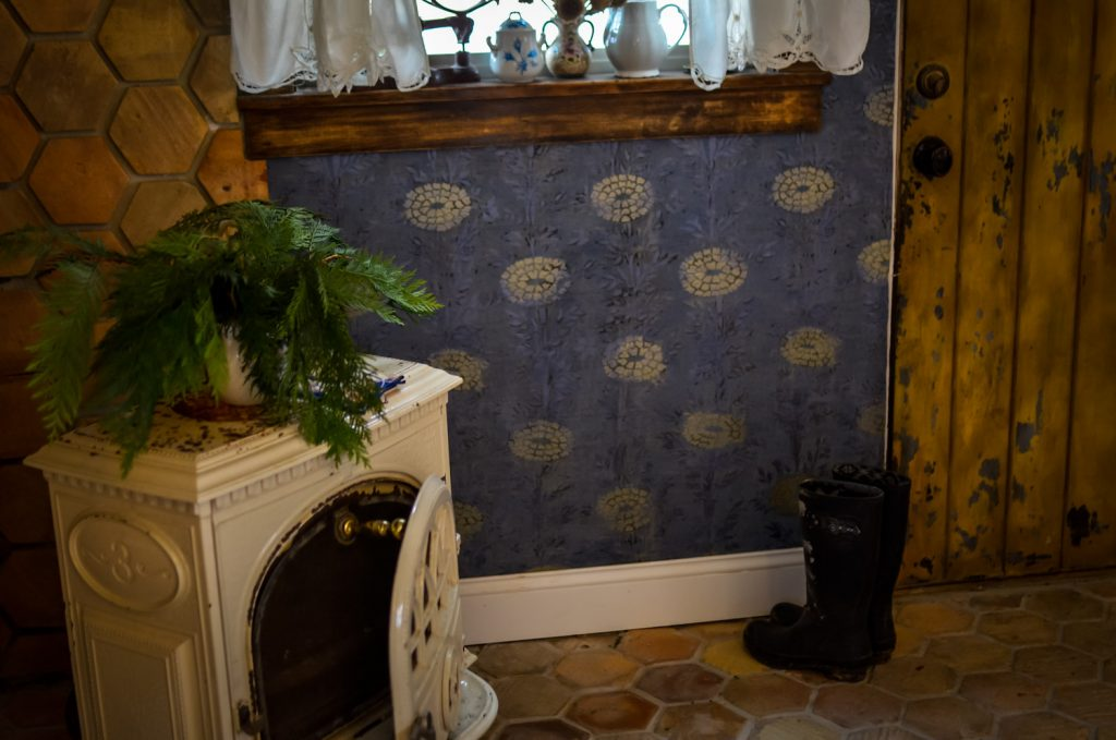 Jotul Stove in the Cottage Kitchen