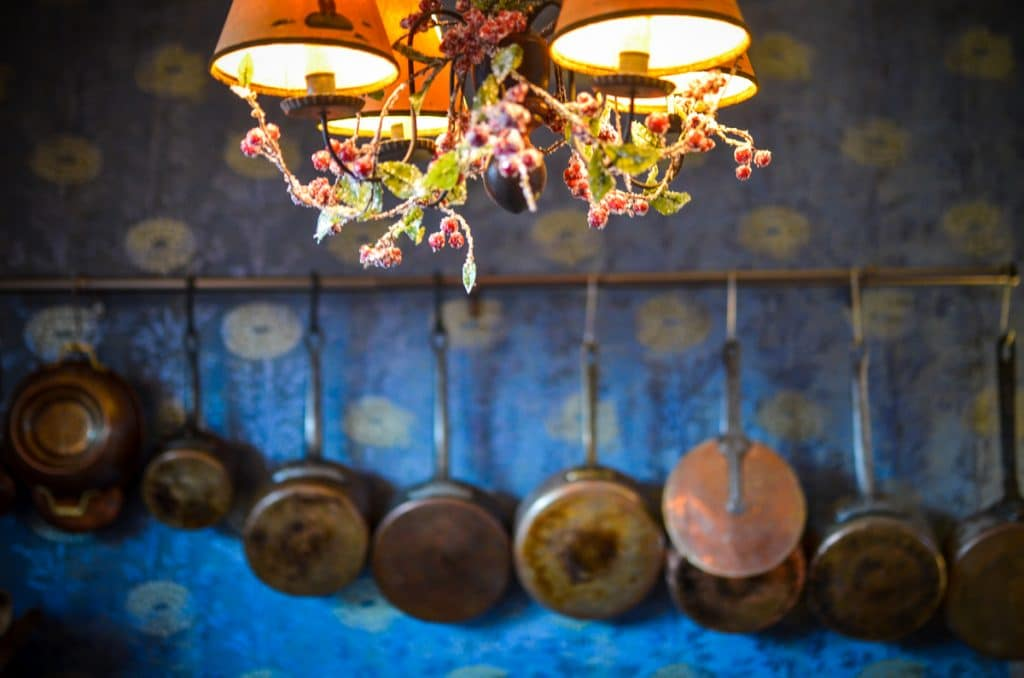 Copper Pots in the Cottage Kitchen | The Elliott Homestead