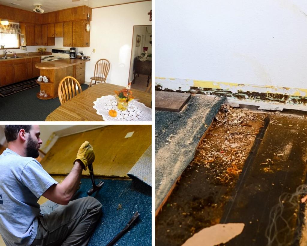 Old wood plank flooring | The Elliott Homestead