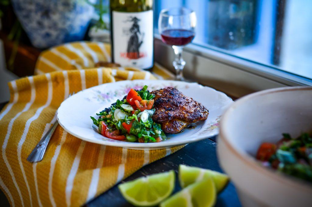 Spicy Chicken Thighs with Salsa Fresca | The Elliott Homestead